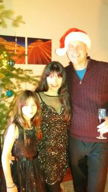 Angelina, Sharon & Bill Christmas Pic